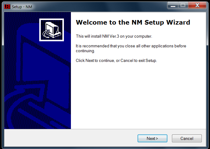 NM setup wizard copy